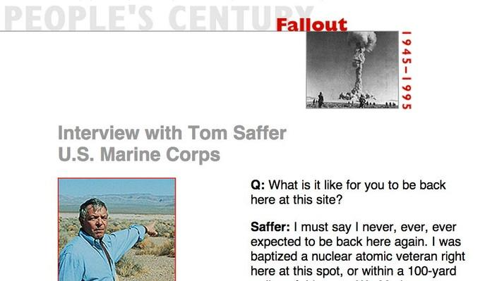 Fallout, Eyewitness Interview: Tom Saffer