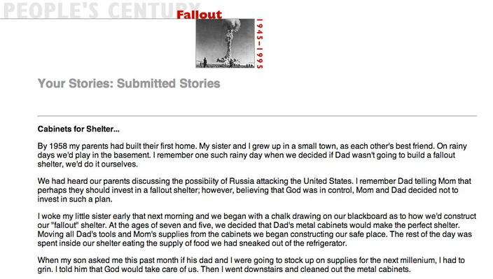 Fallout, Selected Submissions