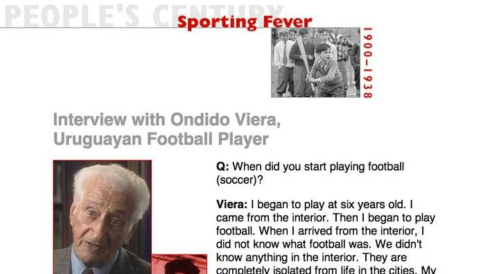 Sporting Fever, Eyewitness Interview: Ondido Viera