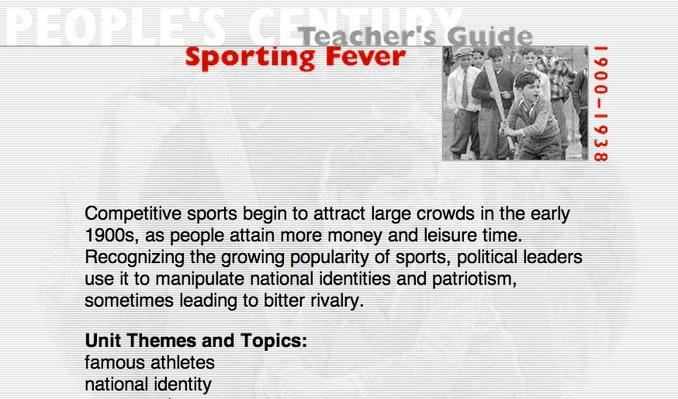 Sporting Fever, Teacher's Guide