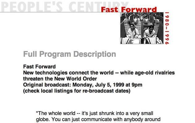 Fast Forward, Full Program Description