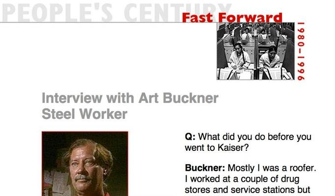 Fast Forward, Eyewitness Interview: Art Bunker