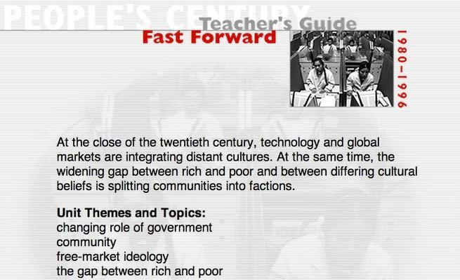 Fast Forward, Teacher's Guide