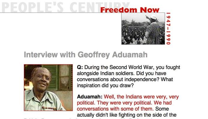 Freedom Now, Eyewitness Interview: Geoffrey Aduamah