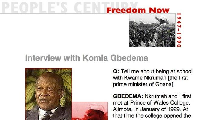 Freedom Now, Eyewitness Interview: Komla Gbedema