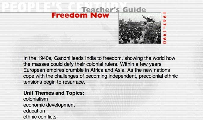 Freedom Now, Teacher's Guide