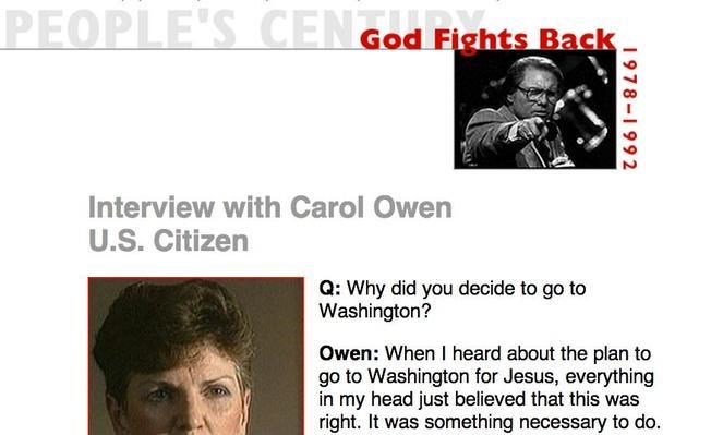 God Fights Back, Eyewitness Interview: Carol Owen