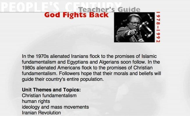 God Fights Back, Teacher's Guide
