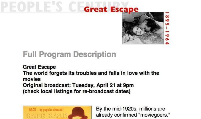 Great Escape, Full Program Description