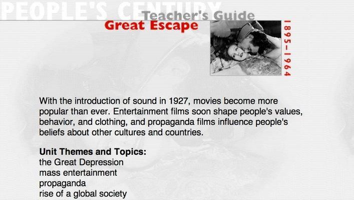 Great Escape, Teacher's Guide