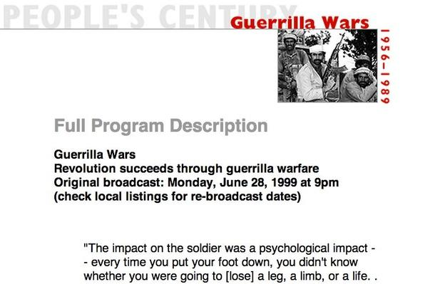 Guerrilla Wars, Full Program Description
