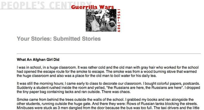 Guerrilla Wars, Selected Submissions
