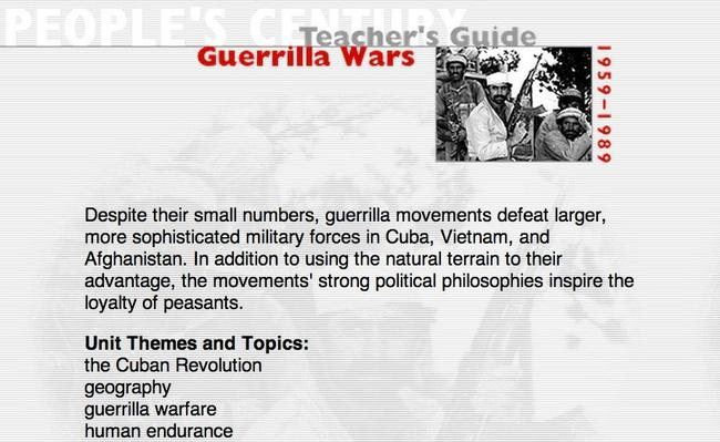 Guerrilla Wars, Teacher's Guide
