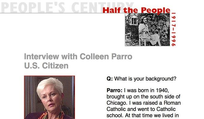 Half the People, Eyewitness Interview: Colleen Parro