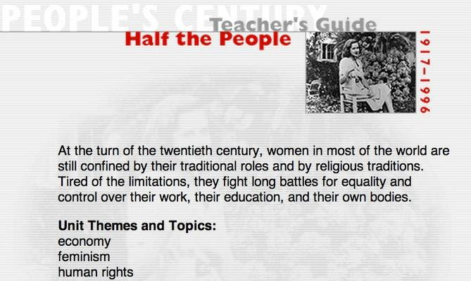 Half the People, Teacher's Guide
