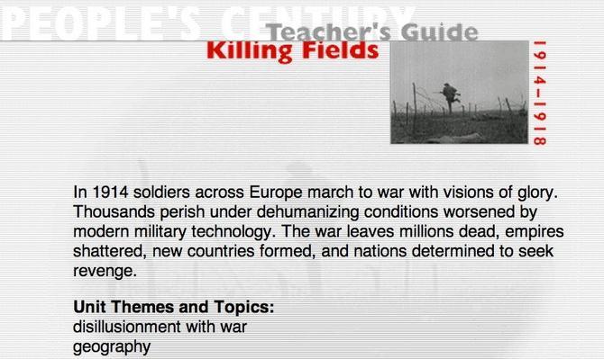 Killing Fields, Teacher's Guide