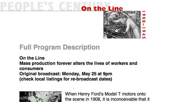 On the Line, Full Program Description