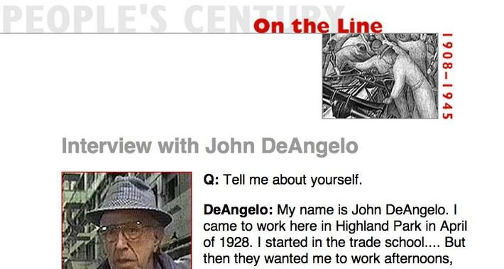 On the Line, Eyewitness Interview: John DeAngelo