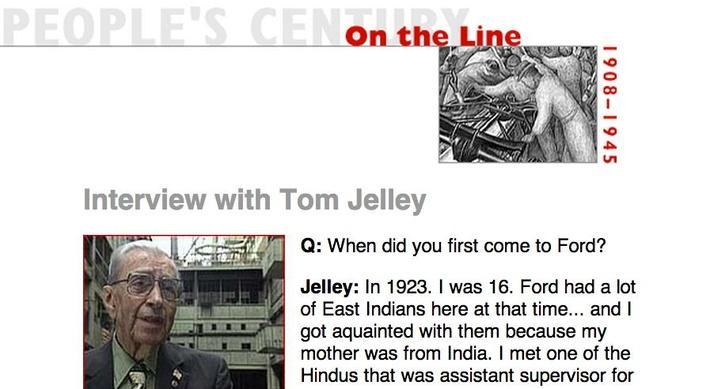 On the Line, Eyewitness Interview: Tom Jelley