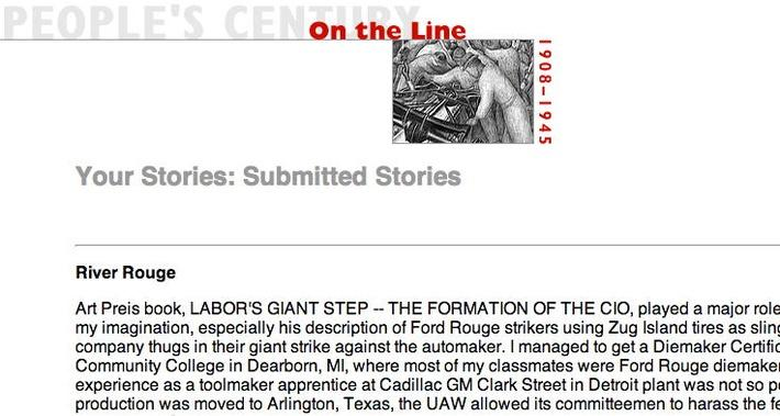 On the Line, Selected Submissions