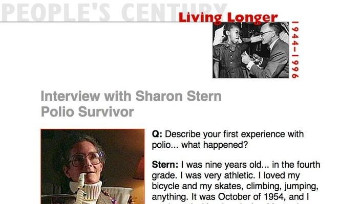 Living Longer, Eyewitness Interview: Sharon Stern