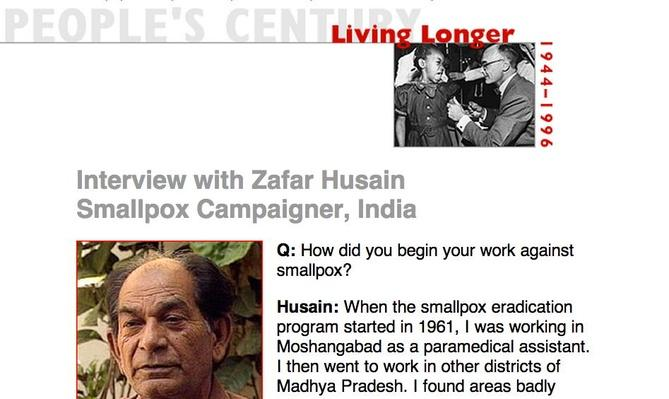 Living Longer, Eyewitness Interview: Zafar Husain