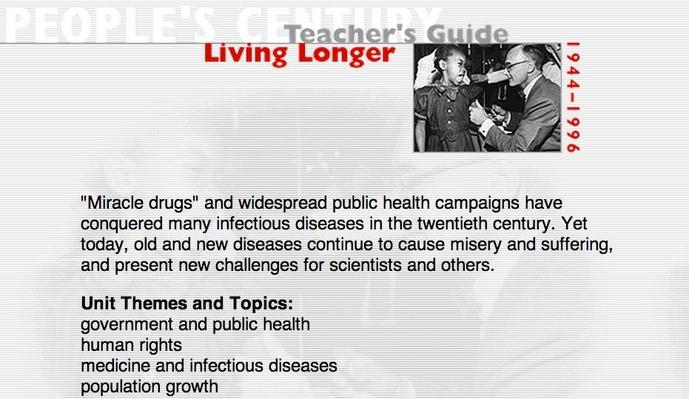 Living Longer, Teacher's Guide