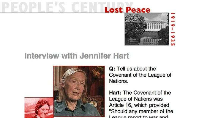 Lost Peace, Eyewitness Interview: Jennifer Hart