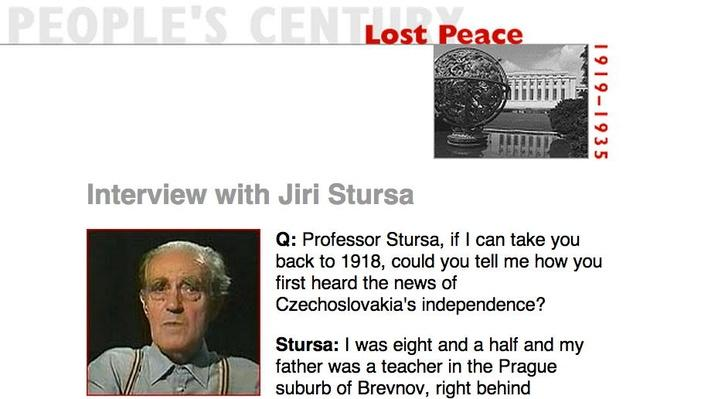 Lost Peace, Eyewitness Interview: Jiri Stursa