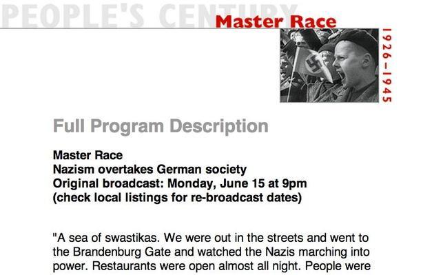 Master Race, Full Program Description