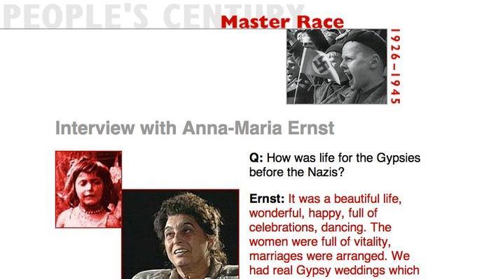 Master Race, Eyewitness Interview: Anna-Maria Ernst