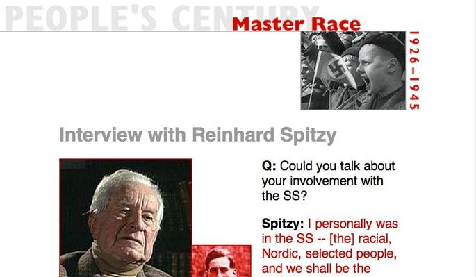 Master Race, Eyewitness Interview: Reinhard Spitzy