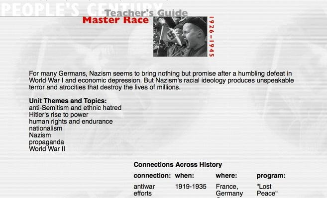 Master Race, Teacher's Guide