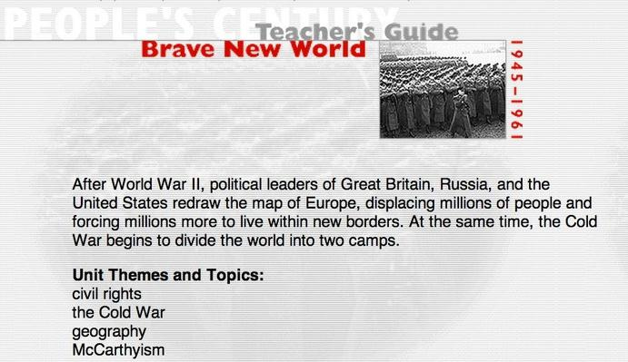 Brave New World, Teacher's Guide
