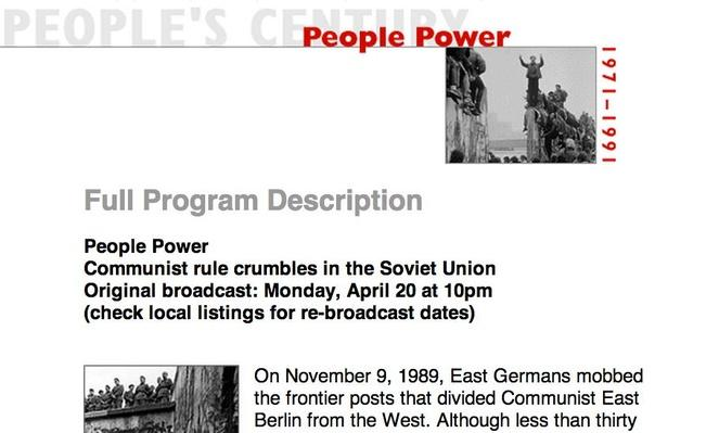 People Power, Full Program Description