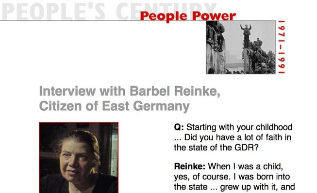 People Power, Eyewitness Interview: Barbel Reinke