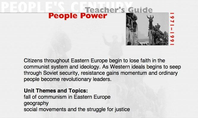 People Power, Teacher's Guide