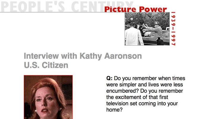 Picture Power, Eyewitness Interview: Kathy Aaronson