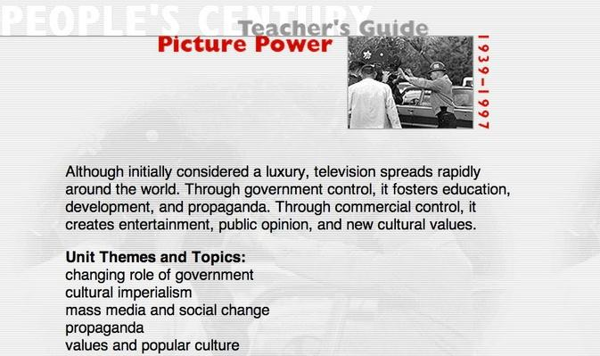 Picture Power, Teacher's Guide