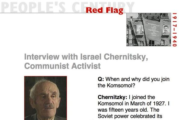Red Flag, Eyewitness Interview: Israel Chernitsky