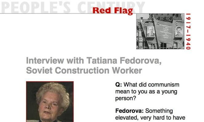 Red Flag, Eyewitness Interview: Tatiana Fedorova