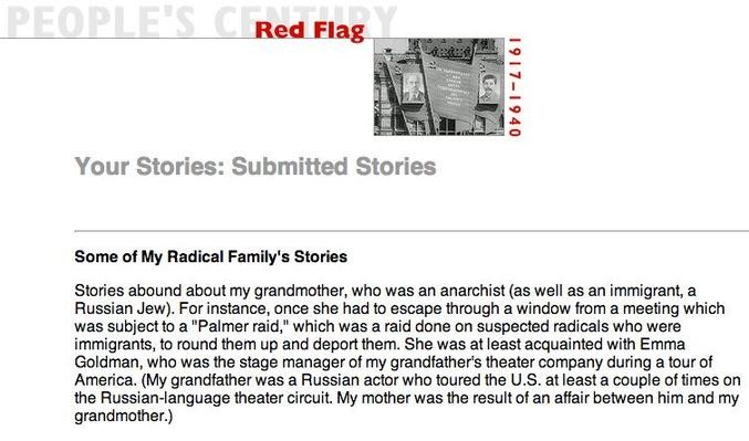 Red Flag, Selected Submissions