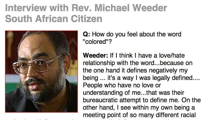 Skin Deep, Eyewitness Interview: Rev. Michael Weeder