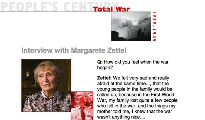 Total War, Eyewitness Interview: Margarete Zettel