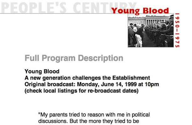 Young Blood, Full Program Description
