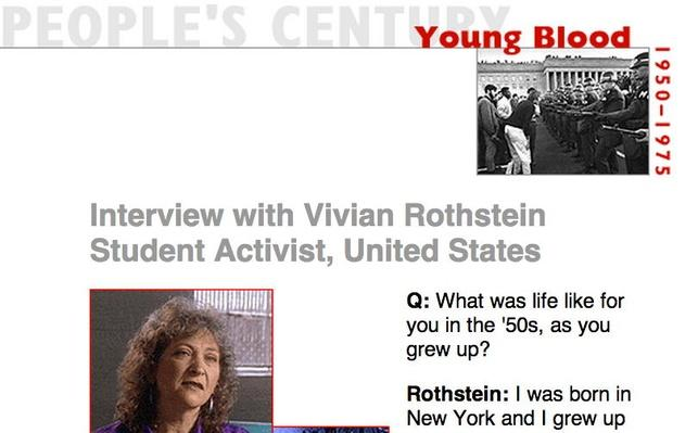 Young Blood, Eyewitness Interview: Vivian Rothstein