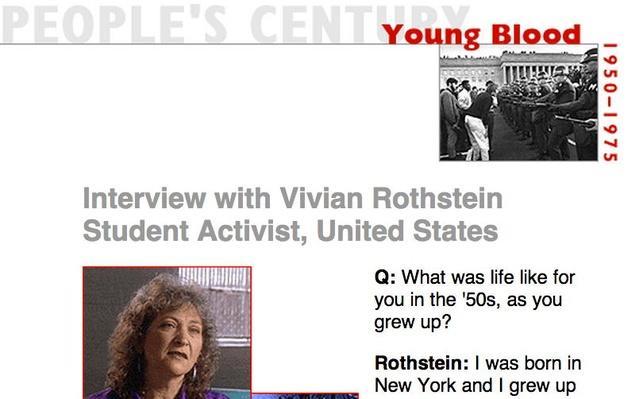 Young Blood, Eyewitness Interview: Vivian Rothstein