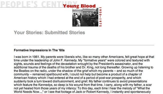 Young Blood, Selected Submissions