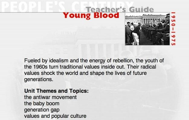Young Blood, Teacher's Guide