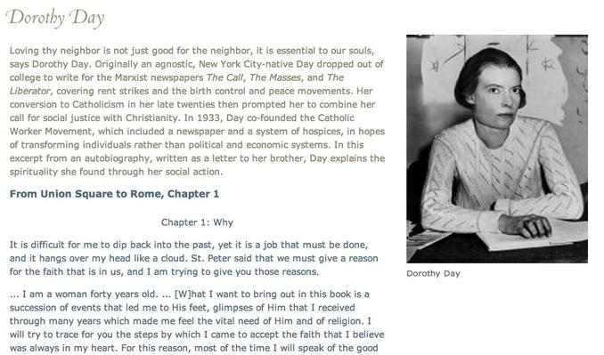Other Voices: Dorothy Day